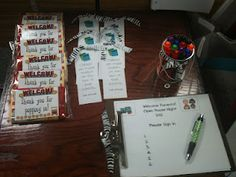Open house ideas bookmarks, parents open house, hous idea, gifts, children, teacher, bags, back to school, popcorn treats
