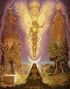 The Vision of Hermes Trismegistus by Johfra Bosschart #occult, #Magic, #Esoteric