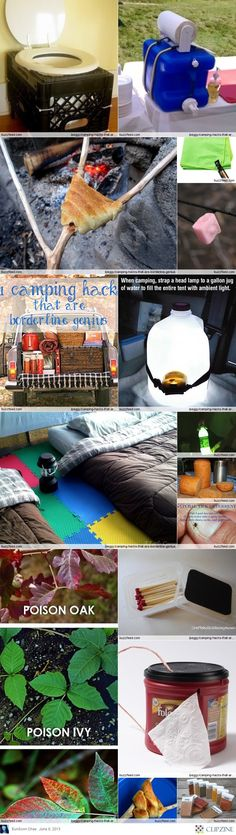 """Camp ideas. Love the """"toilet"""" and """"sink""""! Especially lovin' the playmat floor!"""