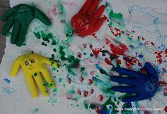 Inspire imagination through creation: Glove painting