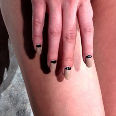 Half-moon nails at @LaPerla #NYFW #fall2013