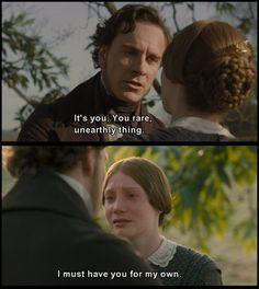 Jane Eyre (2011) - Mia Wasikowska as Jane Eyre  Michael Fassbender as Mr. Edward Rochester