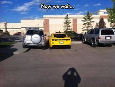 more people need to do this! Maybe then there will be more ppl learning to PARK RIGHT!!!! (hilarious) I might try this!