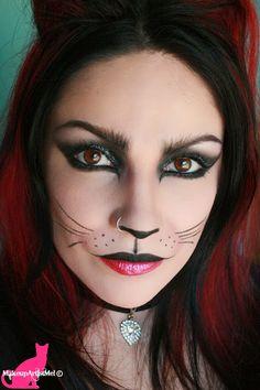 cat makeup halloween- Make-up Artist Me!: Felina - Cat Costume Makeup Tutorial mua