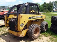 John Deere 250 skid steer salvaged for used parts. Call 877-530-4430. We buy salvage farm equipment. 7 salvage yards in the Midwest. http://www.TractorPartsASAP.com