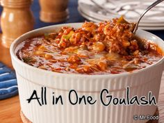 Once your gang tastes this goulash, it's bound to become a regular favorite at your house. Plus, this easy dinner recipe is made all in one dish, which means not only quick cooking, but quick cleanup, too!