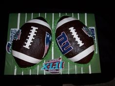 Patriots vs. Giants Rematch Super Bowl Cake