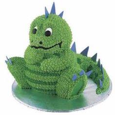 Dinosaur birthday cake (Wilton cake originally found here: http://www.wilton.com/idea/Happy-Birthday-Spike)