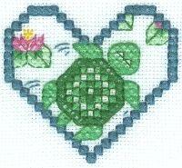 free turtle chart cross stitch