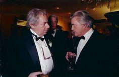 Mordecai Richler and John Irving at the inaugural Giller Prize ceremony (photo: Tom Sandler)