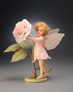 Felt rose fairy
