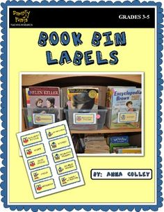 FREE Book Bin Labels for Classroom Organization