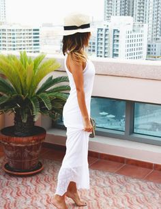 White wide brimmed classic straw dress fedora hat for women
