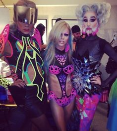 Raja, Courtney Act and Mathu Anderson Marco Marco