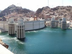 Hoover Dam near Las Vegas, Nevada is on the National Register of Historic Places