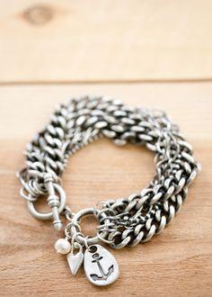 love this anchor bracelet via @Lisa Leonard Designs
