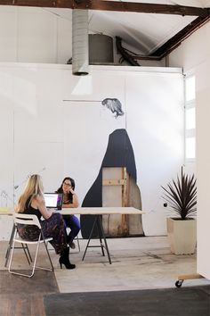 The School of Life event and meeting space – featuring murals by Miso!