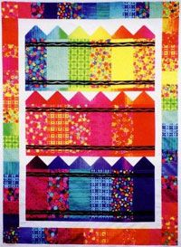 Crayons Quilt Pattern, perfect for kids! http://www.kayewood.com/item/Crayons_Quilt_Pattern/3239 $7.00