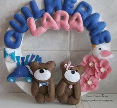 Guirlanda de Porta Maternidade Para Gêmeos :)