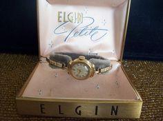Vintage 10K gold filled Elgin Wristwatch by vintagecitypast, $30.00