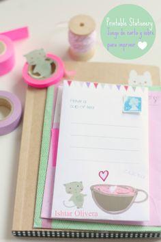 cat envelope printable~stationery~ishtarolivera.com