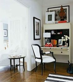 secretary desk. perfect for an open corner space off of kitchen or living room