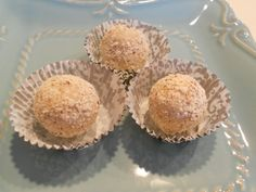 White Chocolate Mocha Almond Frangelico Truffles.... the name is ...