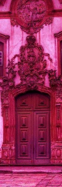 red doors, the doors, fuchsia color, pink door, front doors