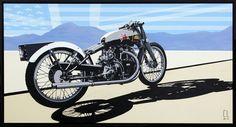 motorbik poster, vehicl illustr, motorcycl graphic, conrad leach, moto passion