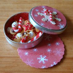 Miniature Christmas Cookies Box