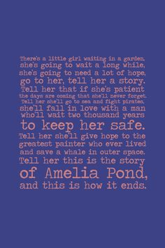 The story of Amelia Pond