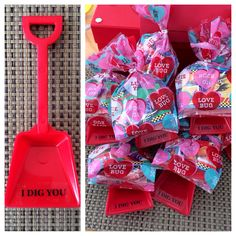 Kids Valentine's~I DIG YOU...shovels from Amazon