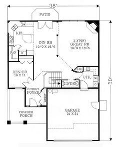 House plans on pinterest victorian house plans house for Open concept craftsman house plans