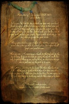 Poem by Chief Tecumseh.