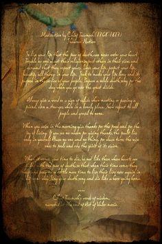 Poem by Chief Tecumseh.