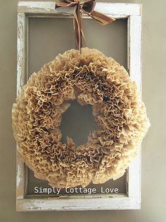 DIY Coffee Filter Wreath - love mine!