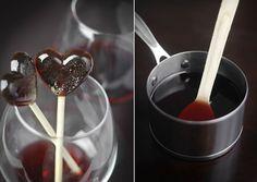 Wine lollipops