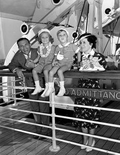 Comedians George Burns and Gracie Allen with adopted daughter, Sandra (1934), and son Ronnie (1935).