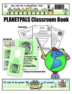 Earthday Book.  Planetpals TEACHER BOOK: Exclusive Earth friendly activities for kids.