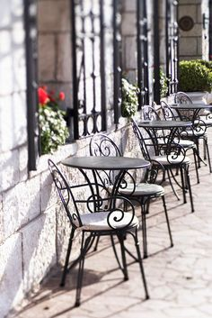 Venice Photography   Sidewalk Cafe Chairs Grand by GeorgiannaLane