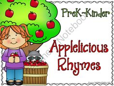 Applelicious Rhymes  from Teaching With Nancy  on TeachersNotebook.com -  (4 pages)  - A fun way for students to practice identifying pictures that rhyme.