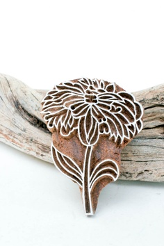 Hand Carved Stamp  flower