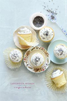 Lavender Honey Cupcakes via Bakers Royale