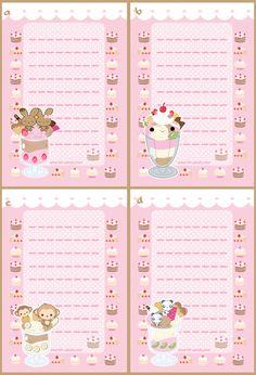 Kawaii Stationery Designs by *A-Little-Kitty on deviantART