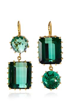 One of a Kind Green Quartz Earrings by Renee Lewis for Preorder on Moda Operandi