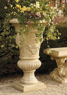 Beautiful grand outdoor planters.