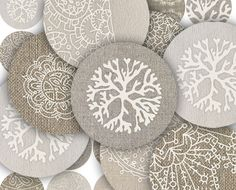 Vintage Lace Paisley on Linen by Orange Clipart #Christmas