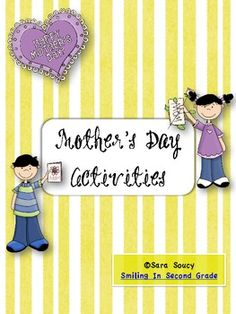 Simple poems and card ideas for your students to make for Mother's Day....