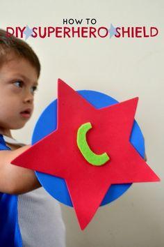 DIY Boy's Superhero Shield