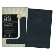 KJV Giant-Print Personal-Size Reference Bible--bonded leather, blue BEST ALL AROUND DEAL CONSIDERING PRICE VS FEATURES